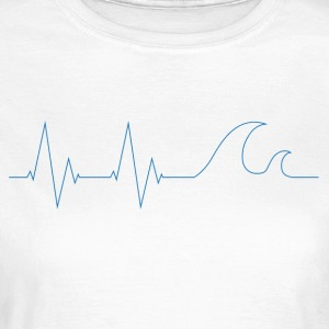 cardiowaves blue - Women's T-Shirt