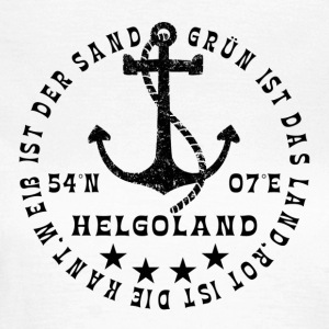 HelgolandLogo_Anker_black_hollow - Frauen T-Shirt