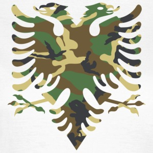 Albanian flag Camouflage Wood - Women's T-Shirt