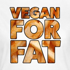 Vegan Pour Fat | Design Amusement | lettrage français - T-shirt Femme