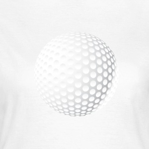 golf-ball round symbol single white knob - Women's T-Shirt