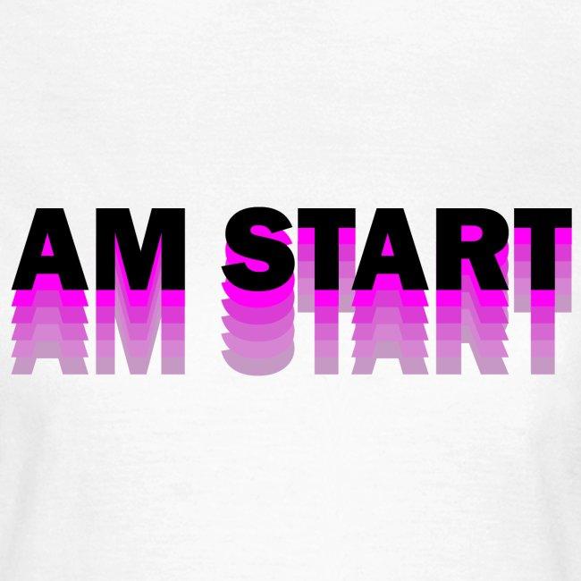 am Start - pink schwarz faded