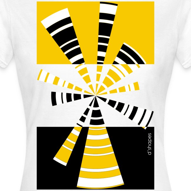 d shapes radio giallo
