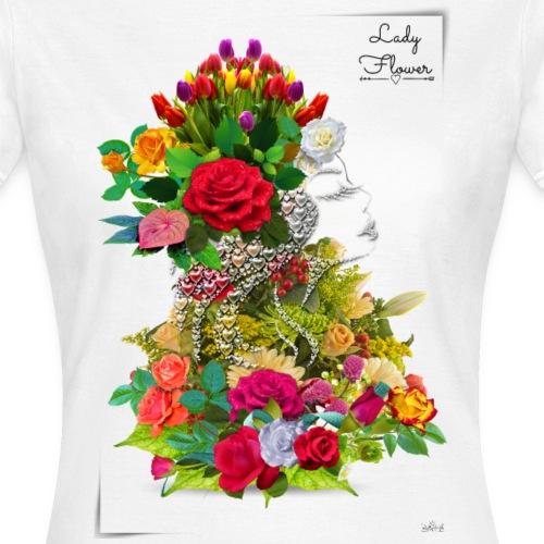 Lady flower -by- T-shirt chic et choc - T-shirt Femme
