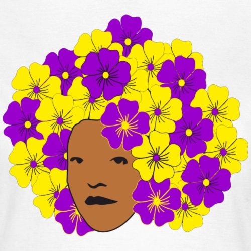 Flowery Summery Afro - Women's T-Shirt