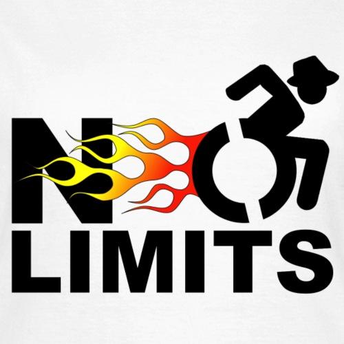> Geen grenzen voor deze rolstoel gebruiker - Vrouwen T-shirt