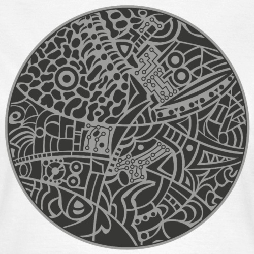 GlobeDesign-grey - Dame-T-shirt
