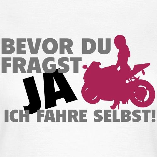 Motorrad Frau - Frauen T-Shirt
