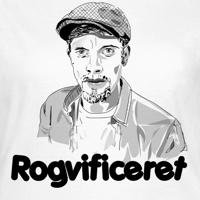 Rogvificeret merch - Sort tekst.