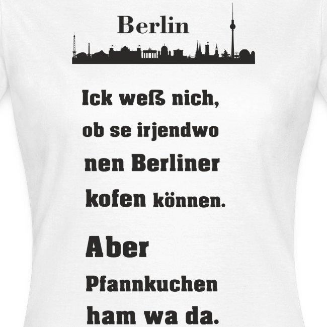 I love Berlin Pfannkuchen