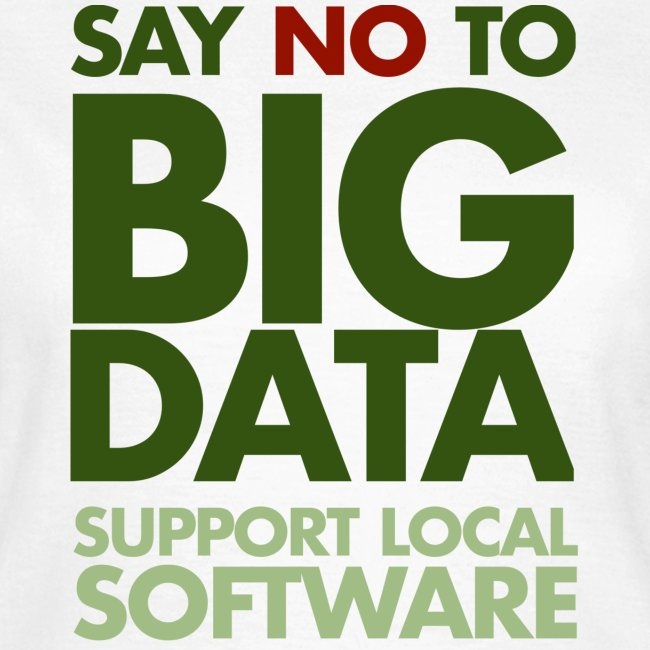 Say No to Big Data