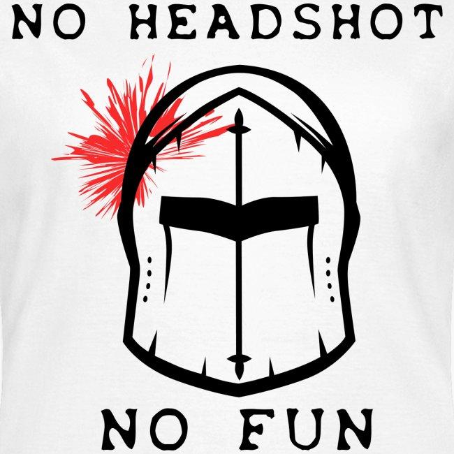 no headshot no fun pour fond clair