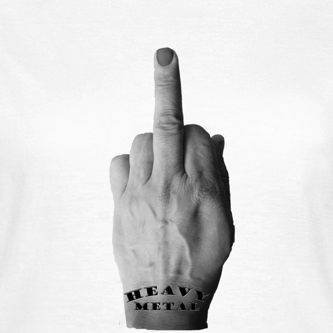 Heavy Metal middle finger