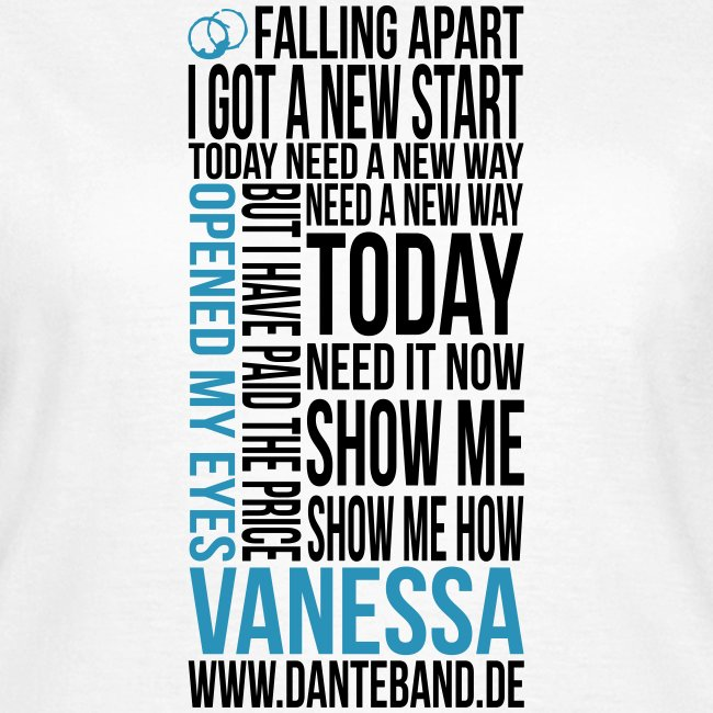 t-shirt vanessa outline