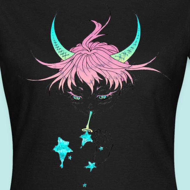 Démon cute elfe kawaii bulles étoiles