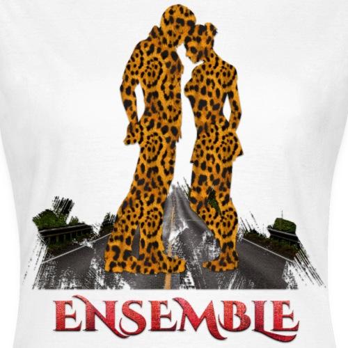 Ensemble leopard - couleur rouge crocodile - T-shirt Femme
