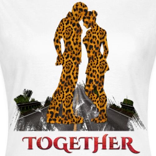 Together leopard - crocodile red color - T-shirt Femme