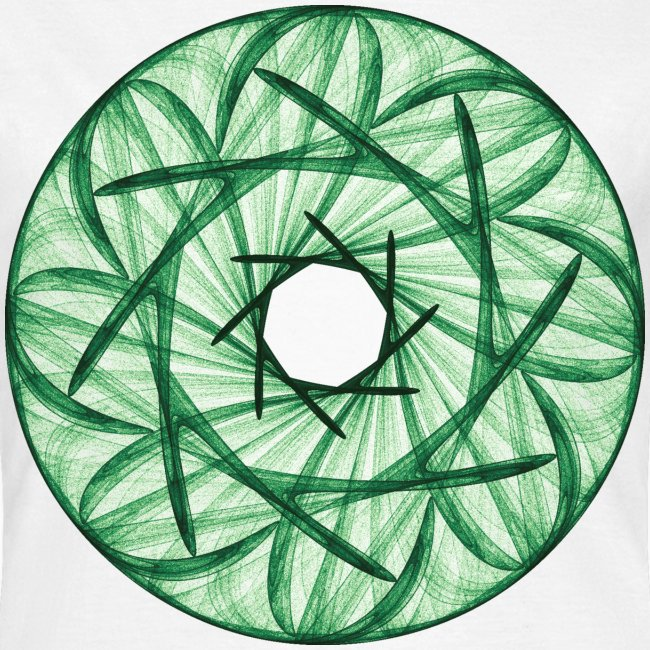 Wreath of green reeds and stalks Mandala 12247