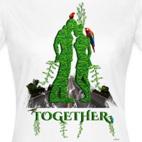 Together love nature by T-shirt chic et choc - T-shirt Femme
