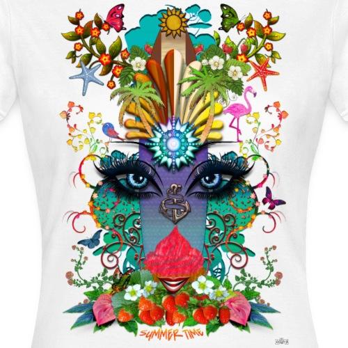 Summer Time -by- T-shirt chic et choc - T-shirt Femme