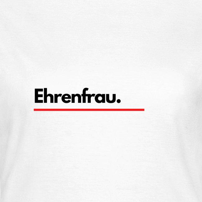 Ehrenfrau Logo Schwarz Weiß