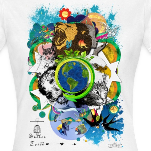 Mother Earth - black (us) -by T-shirt chic et choc - T-shirt Femme