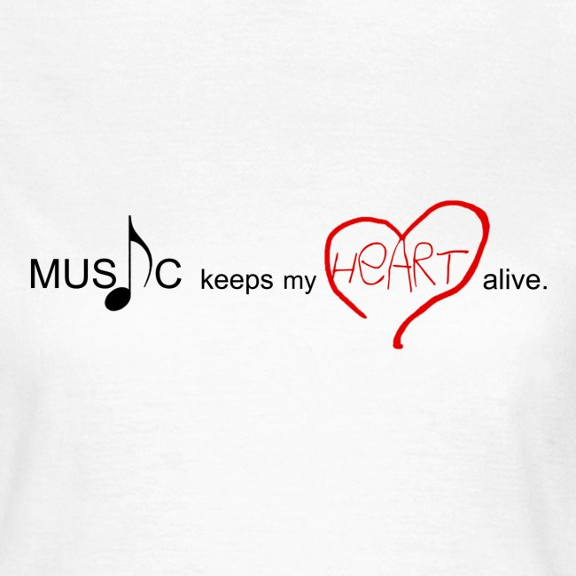 MUSIC keeps my HEART alive PSD png