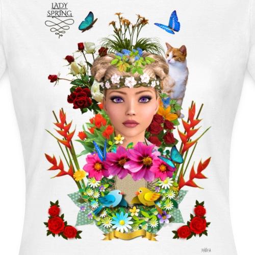 Lady spring -by- t-shirt chic et choc - T-shirt Femme