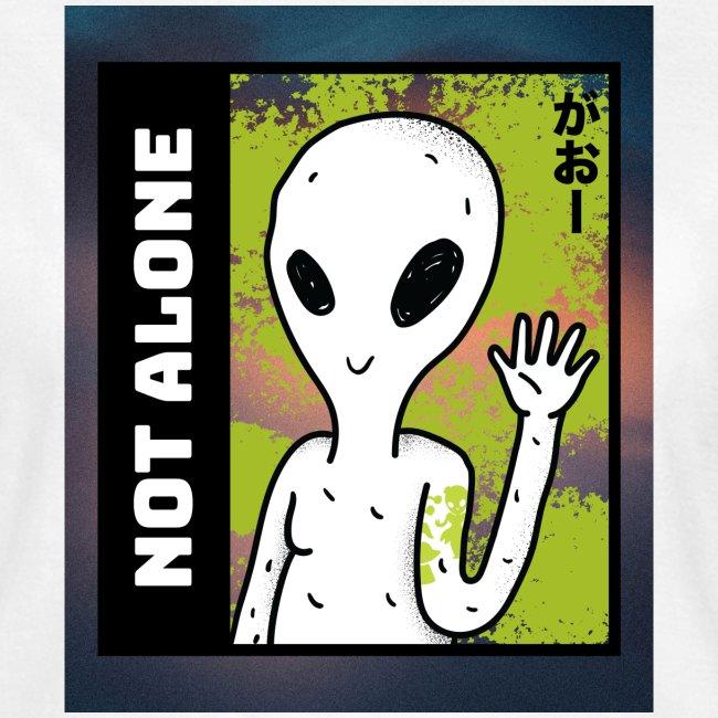 alien t shirt design maker featuring a smiling ali