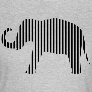 Elephant in strips - Women's T-Shirt