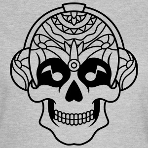 Sugar Skull Mexican music headphone / sugarskull - Women's T-Shirt