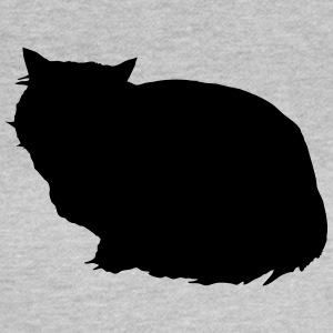 Vector Cat Silhouette - T-skjorte for kvinner