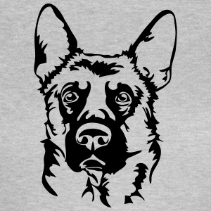 German Shepherd STÅENDE - T-shirt dam