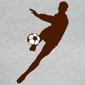 Soccer football player silhouette - Women's T-Shirt