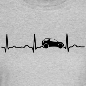 EKG HEARTBEAT SUV sort - Dame-T-shirt