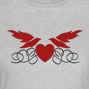 Bird Heart I love you Valentine's Day for couples - Women's T-Shirt