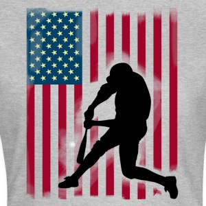 honkbal tee ons Team Flag USA Sport trots - Vrouwen T-shirt