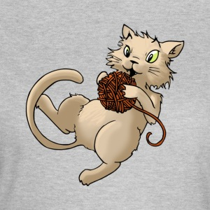 Cat wool ball of wool Kitty Animal Pets - Women's T-Shirt