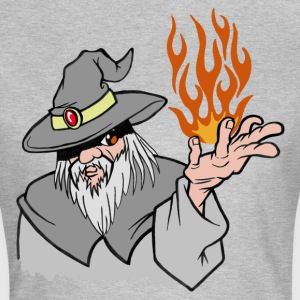Willpower Wizard Grey/Orange Flame - No Text - Vrouwen T-shirt