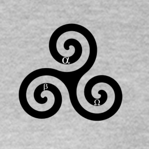alpha beta omega triskelion - Women's T-Shirt
