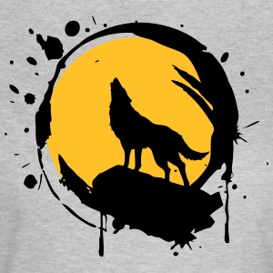 Wolf, Full Moon, power symbol, totem, - Women's T-Shirt