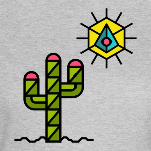 Cactus with sun, summer, Mexico, triangle style - Women's T-Shirt