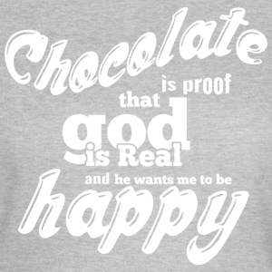 Chocolade is PROOF wit - Vrouwen T-shirt