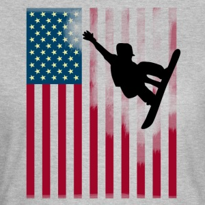 snowboard jump Sport Flag Team USA cool man - Women's T-Shirt