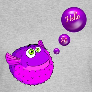 Cute Purple Puffer Fish - T-shirt Femme