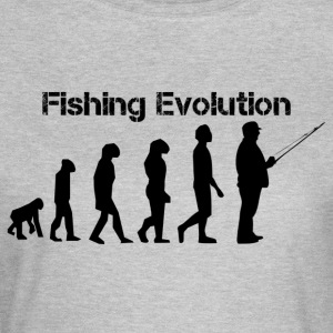Fiskeri evolution - Dame-T-shirt
