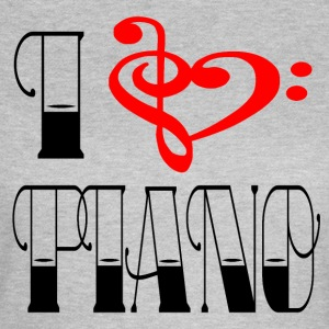 SHOULDER - I LOVE PIANO - Women's T-Shirt
