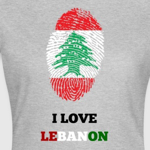 I LOVE LEBANON T-SHIRT FINGERABDRUCK - Frauen T-Shirt