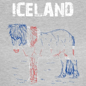 Nation-Design Iceland Iceland Horse - Frauen T-Shirt