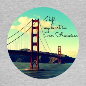 I left my heart in San Francisco - Frauen T-Shirt